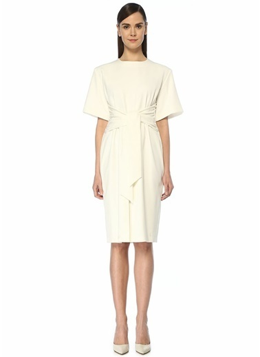 Sara Battaglia Elbise Beyaz